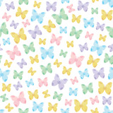 Nature themed seamless pattern with butterflies