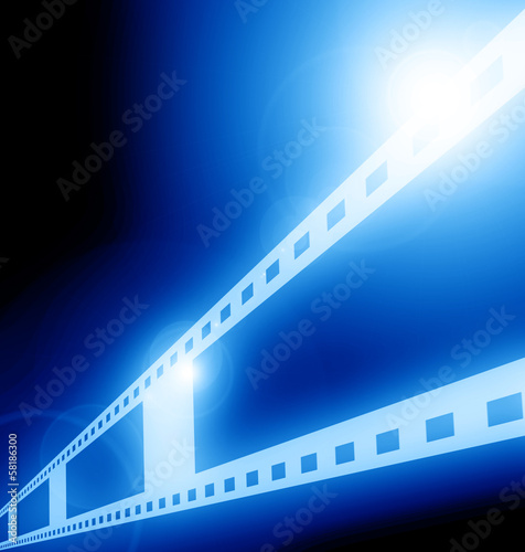 blue film strip