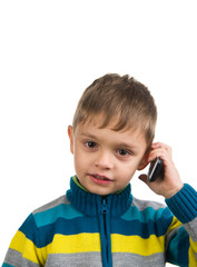 Cute kid with phone