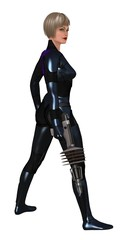 Science fiction female guard