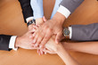 Businesspeople Stacking Hands