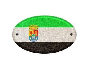 Wooden Extremadura flag.