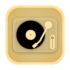 Vinyl player vintage icon