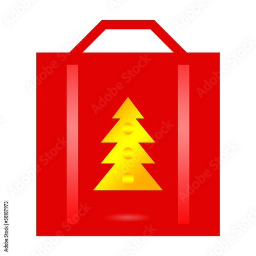Christmas sale red shopping bag