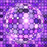 Violet shining vector disco ball