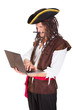 Pirate Using Laptop