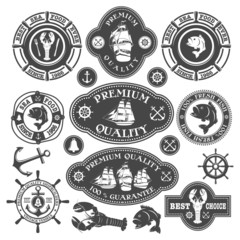Nautical labels set