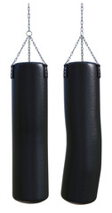 Punching bag (before and after hit)