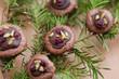 Schokoladen Baiser mit Pistazien und Cranberries