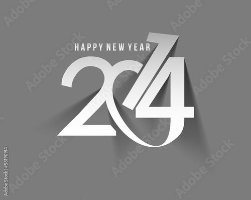Happy new year 2014 celebration greeting card design.