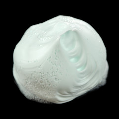 Shaving Foam Isolated on Black Background