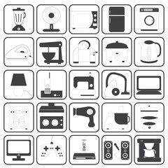 Home Appliance Icons Vector Set