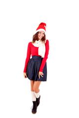 Woman posing for Christmas