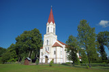 Lutheran old church in Latvian city Rucava