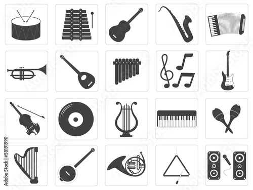 Vector Music Instrument Icons Set