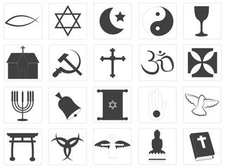 Vector Religious Icons Collection
