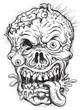 Sketchy Zombie Head