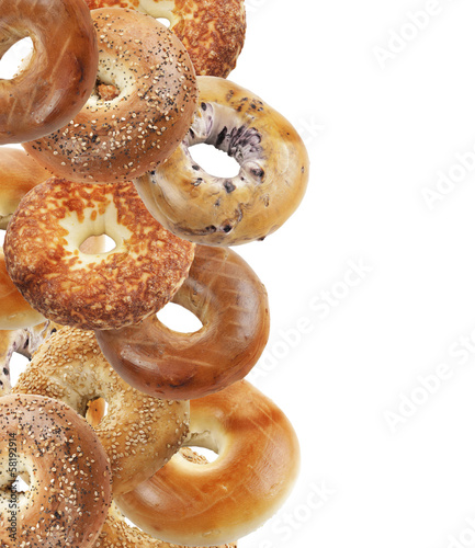 Aluminium Brood Bagels Isolated On White Background