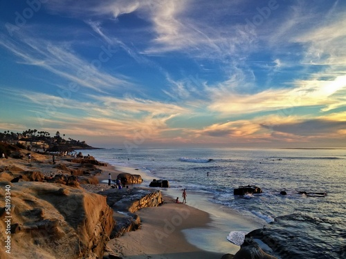 Windansea Beach at Sunset La Jolla California United States