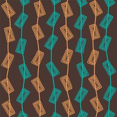 creative rectangle swirl design pattern vector