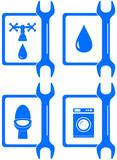 set water  icons for plumbing repair