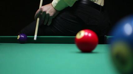 Billiards. Jump shot