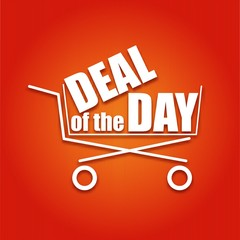 Deal of the day poster with a basket