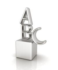 Alphabet and blocks