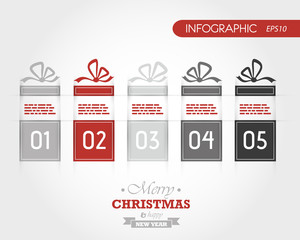 red christmas infographic gifts