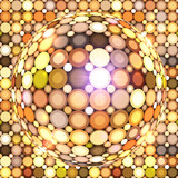 Shining golden vector disco ball