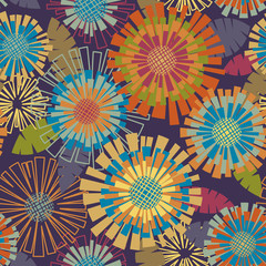 Floral cute seamless pattern