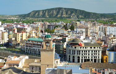 Spring view of Spanish city
