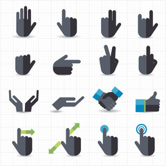 Hand gesture black icons