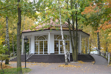 The pump room in the city of Svetlogorsk, Russia