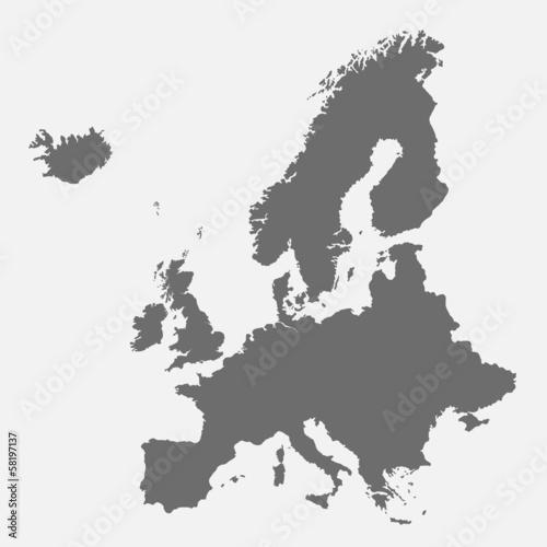 Szczegółowa mapa Europy