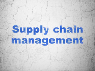 Marketing concept: Supply Chain Management on wall background