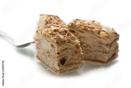 Sweet cakes isolated on white