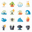 Natural disaster icons - 58198543
