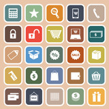 Shopping flat icon on orange background