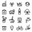 Eco friendly, environment green icons