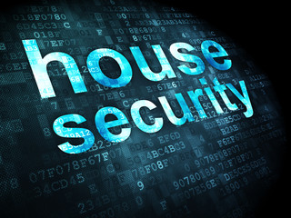 Protection concept: House Security on digital background