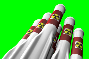 Nuclear Rockets Greenscreen
