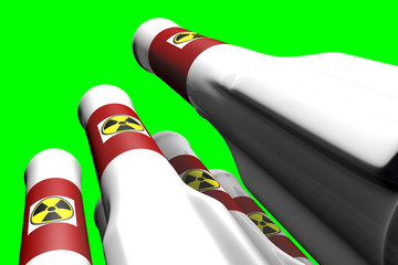 Nuclear Rockets Greenscreen