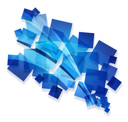 blue creative abstract