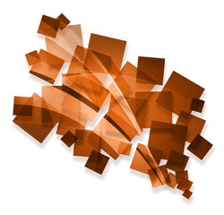 orange creative abstract