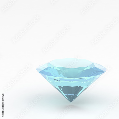 3d Diamond isolated