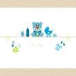 Teddy & Baby Symbols Boy Retro Dots