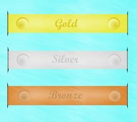 oro, argento e bronzo