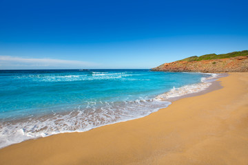 Cala Pilar beach in Menorca at Balearic Islands