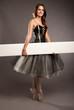 attractive ballerina on tiptoe
